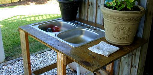 Upcoming Project Outdoor Kitchen Sink Tending Our